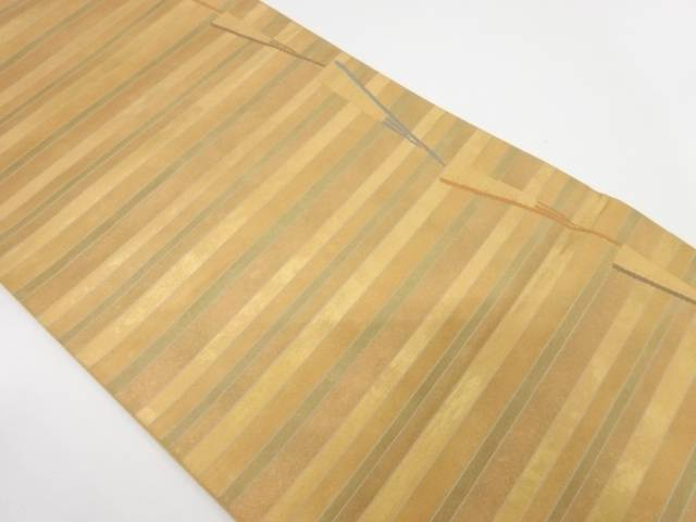 【IDnet】 横段に扇模様織出し袋帯【リサイクル】【中古】【着】