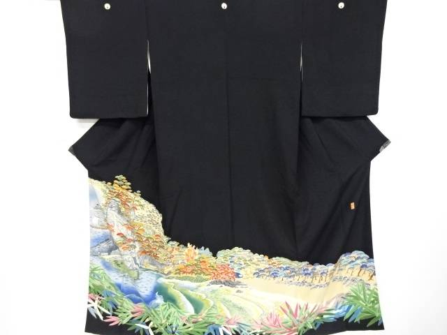 【IDnet】 山崎和洋作 本場加賀友禅海辺風景模様留袖(比翼付き)【リサイクル】【中古】【着】