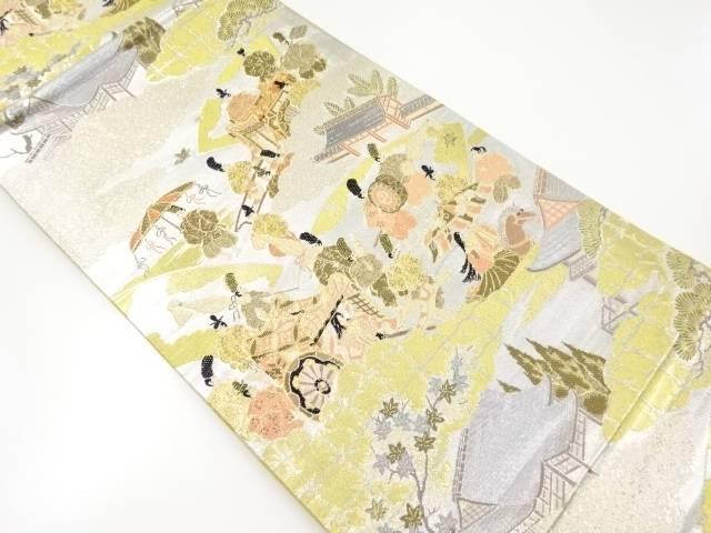 【IDnet】 金銀糸時代人物風景模様織出袋帯【リサイクル】【中古】【着】