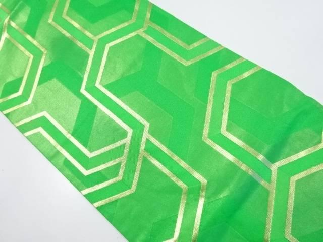 【IDnet】 川島織物製 毘沙門亀甲織り出し名古屋帯【リサイクル】【中古】【着】