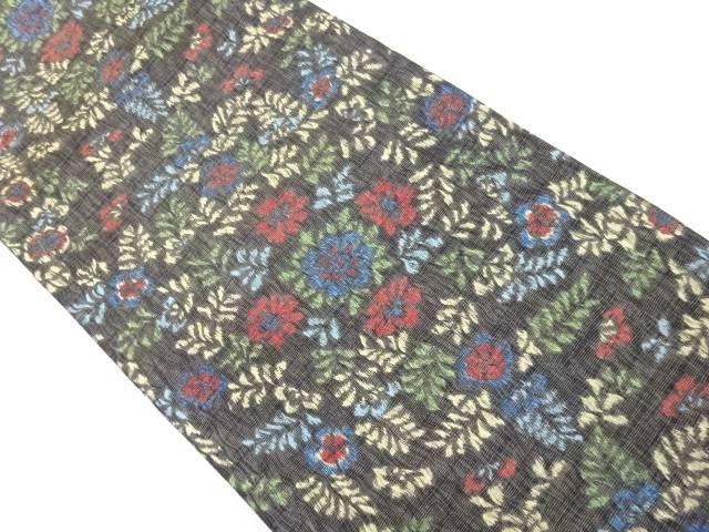 【IDnet】 紗すくい織花模様織り出し全通袋帯【リサイクル】【中古】【着】