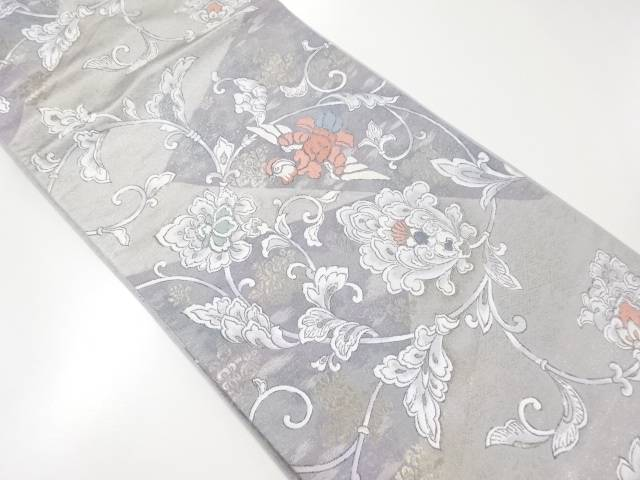 【IDnet】 花唐草に鴛鴦模様織り出し袋帯【リサイクル】【中古】【着】