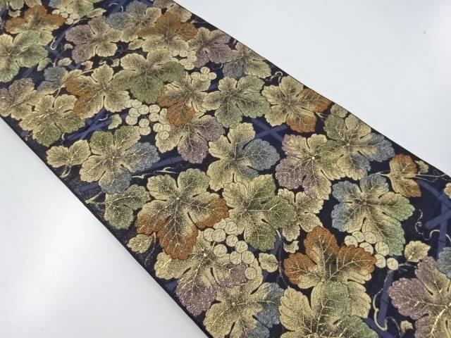 【IDnet】 花井幸子 本金葡萄模様織出袋帯【リサイクル】【中古】【着】
