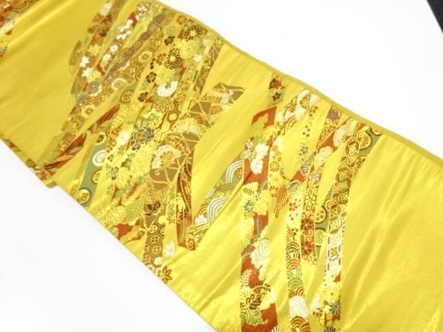 【IDnet】 鬘帯に草花・蝶模様織出し袋帯【リサイクル】【中古】【着】