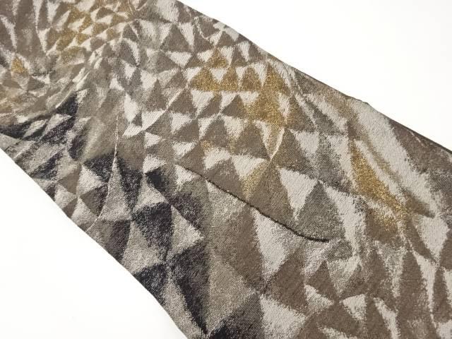 【IDnet】 金糸鱗模様織り出し袋帯【リサイクル】【中古】【着】