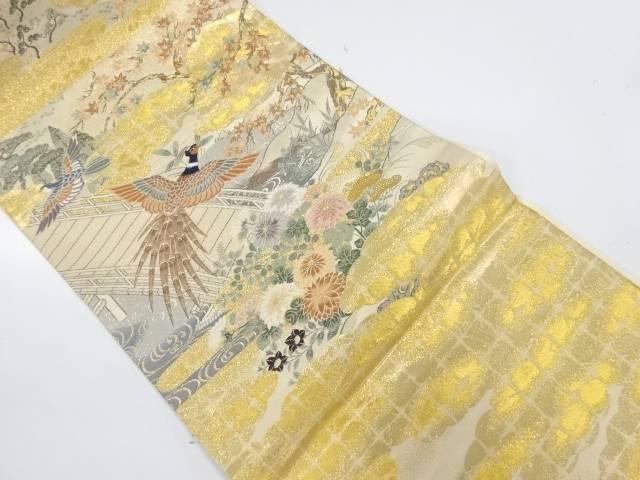 【IDnet】 純金箔王朝の四季秋の図織出し袋帯【リサイクル】【中古】【着】