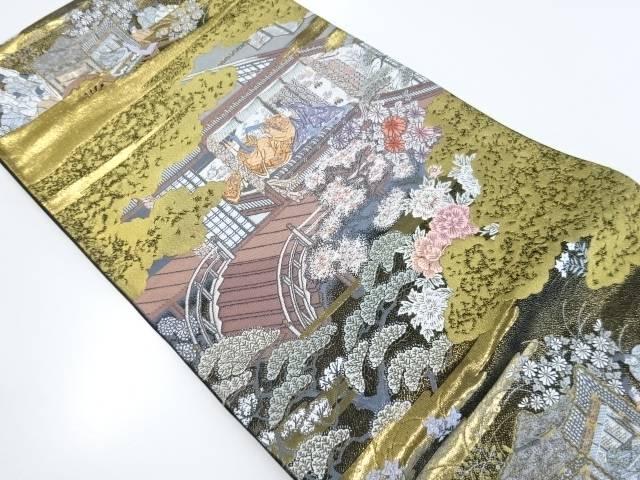 【IDnet】 本金箔浄瑠璃物語織り出し袋帯【リサイクル】【中古】【着】