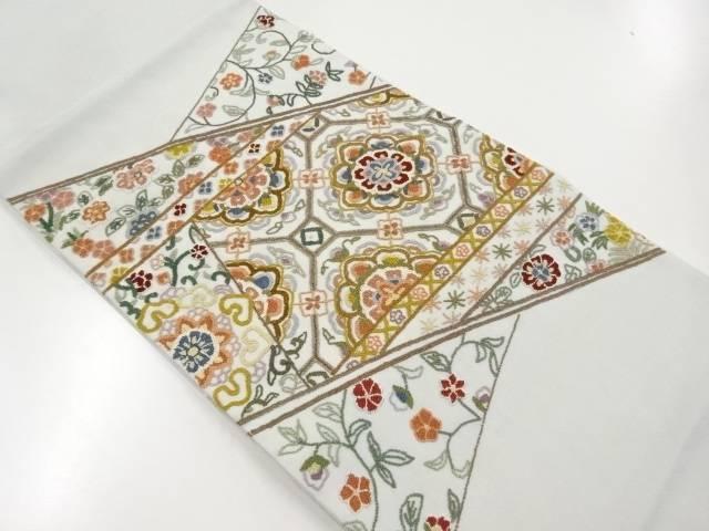 【IDnet】 相良刺繍切りばめ風華紋蜀江紋袋帯【リサイクル】【中古】【着】