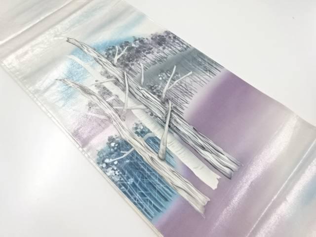 【IDnet】 作家物 手描き木立模様袋帯【リサイクル】【中古】【着】