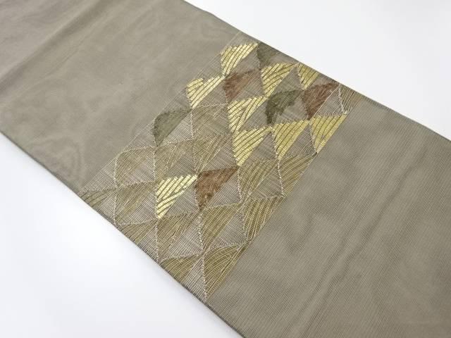 【IDnet】 紗鱗模様織出袋帯【リサイクル】【中古】【着】