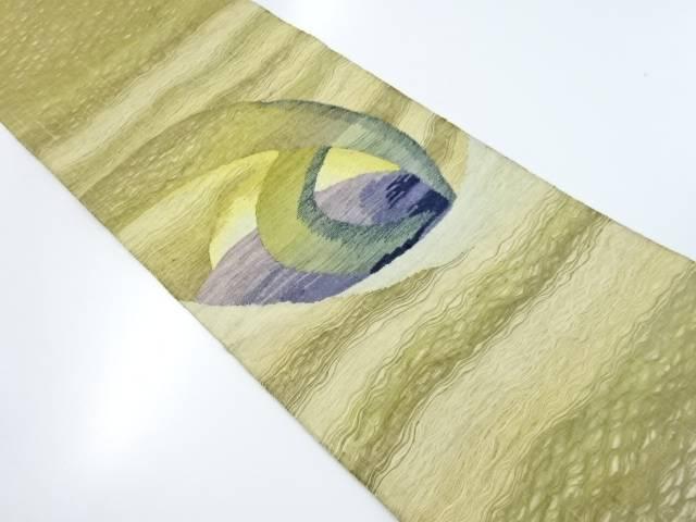 【IDnet】 紗すくい織り抽象模様織り出し袋帯【リサイクル】【中古】【着】