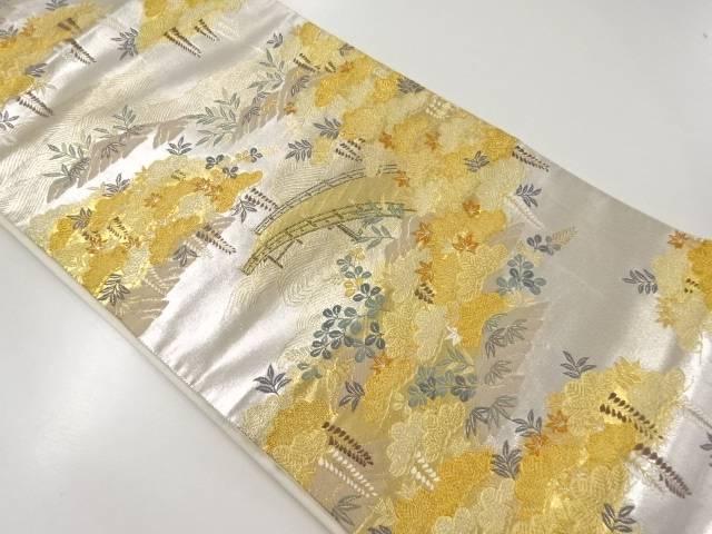【IDnet】 金銀糸花鳥風月織り出し袋帯【リサイクル】【中古】【着】