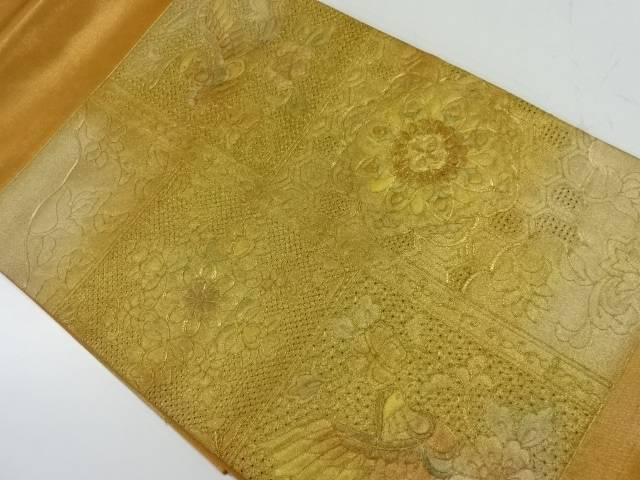 【IDnet】 汕頭刺繍花鳥模様袋帯【リサイクル】【中古】【着】