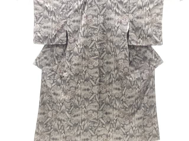 【IDnet】 樹木に寺院風景模様織り出し本場泥大島紬着物(5マルキ)【リサイクル】【中古】【着】