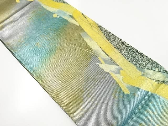 【IDnet】 金糸短冊模様織り出し袋帯【リサイクル】【中古】【着】