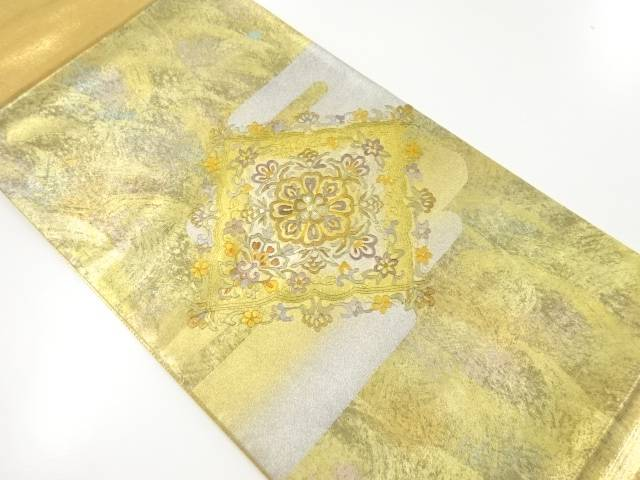 【IDnet】 金彩螺鈿菱華紋刺繍袋帯【リサイクル】【中古】【着】