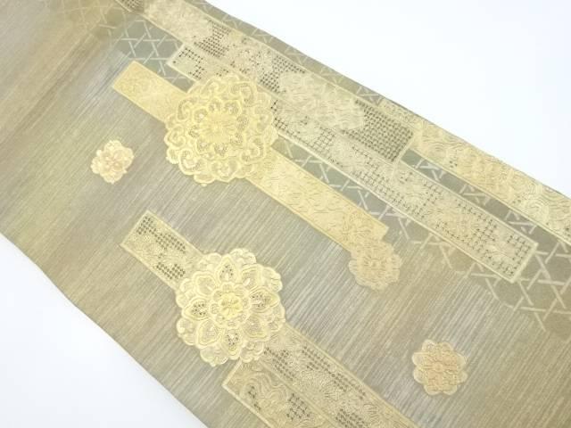 【IDnet】 本金汕頭蘇州刺繍華紋袋帯【リサイクル】【中古】【着】