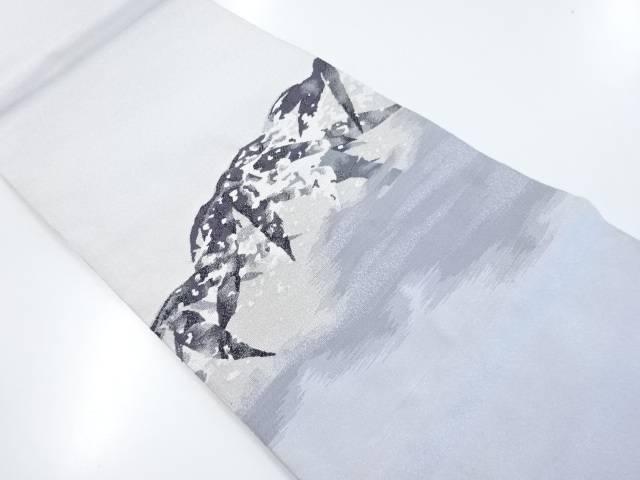 【IDnet】 本綴れ雪持ち笹模様織出袋帯【リサイクル】【中古】【着】