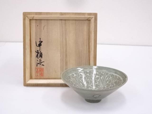 【IDnet】 申相浩造 高麗青磁茶碗【中古】【道】
