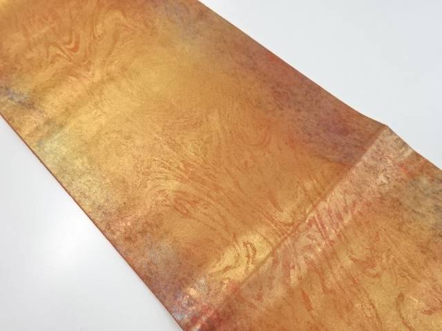 【IDnet】 楼蘭箔墨流し模様織り出し袋帯【リサイクル】【中古】【着】