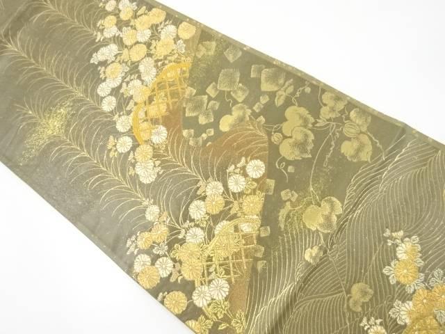 【IDnet】 金糸「永楽歌集」織出袋帯【リサイクル】【中古】【着】