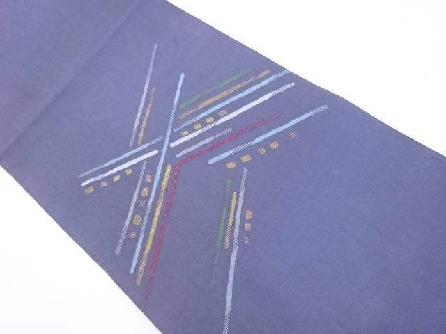 【IDnet】 金糸抽象模様織出袋帯【リサイクル】【中古】【着】