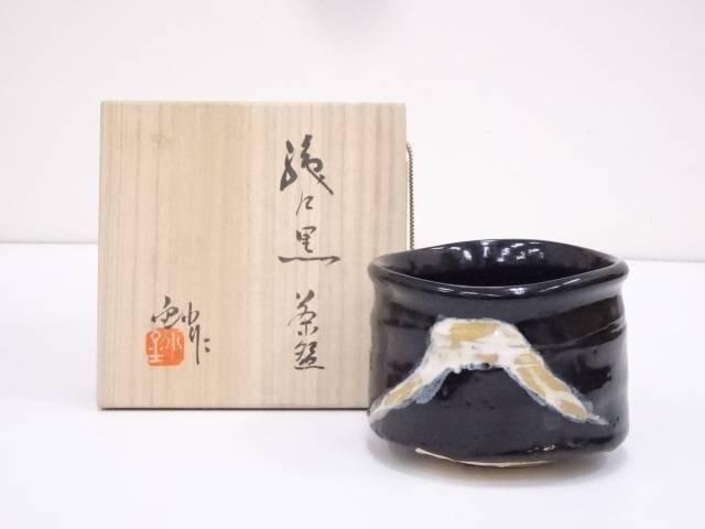 【IDnet】 加藤造 織部黒茶碗【中古】【道】