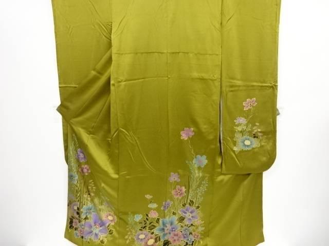 【IDnet】 金彩草花模様振袖 袋帯セット【リサイクル】【中古】【着】