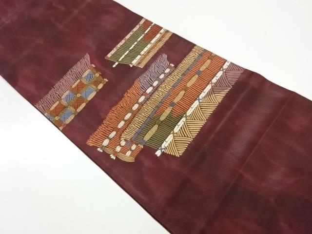 【IDnet】 漆柴垣模様織出し暈し袋帯【リサイクル】【中古】【着】