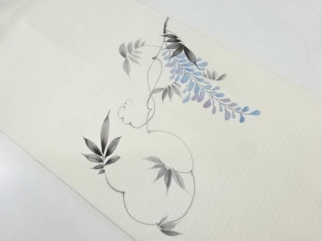 【IDnet】 絽手描き藤模様名古屋帯【リサイクル】【中古】【着】