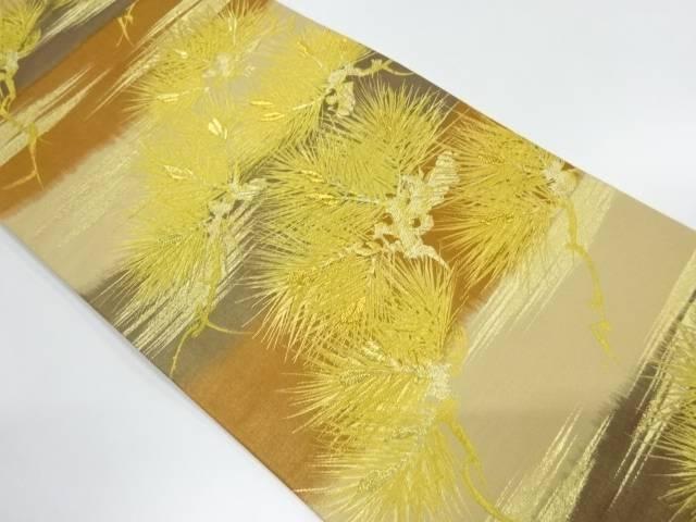 【IDnet】 金糸霞に松模様織出し袋帯【リサイクル】【中古】【着】
