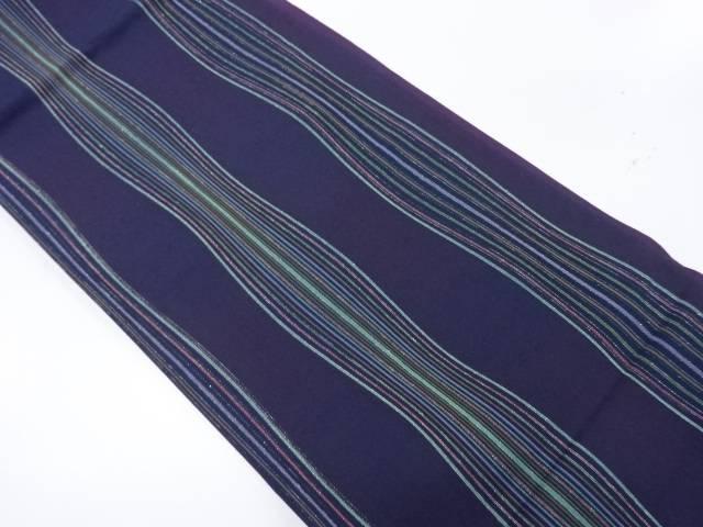 【IDnet】 よろけ縞模様織出し暈し全通袋帯【リサイクル】【中古】【着】