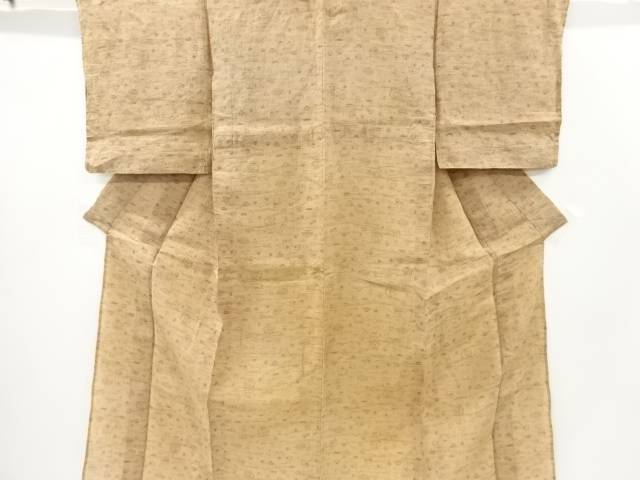【IDnet】 本場小千谷ちぢみ茶道具模様織り出し着物【アンティーク】【中古】【着】