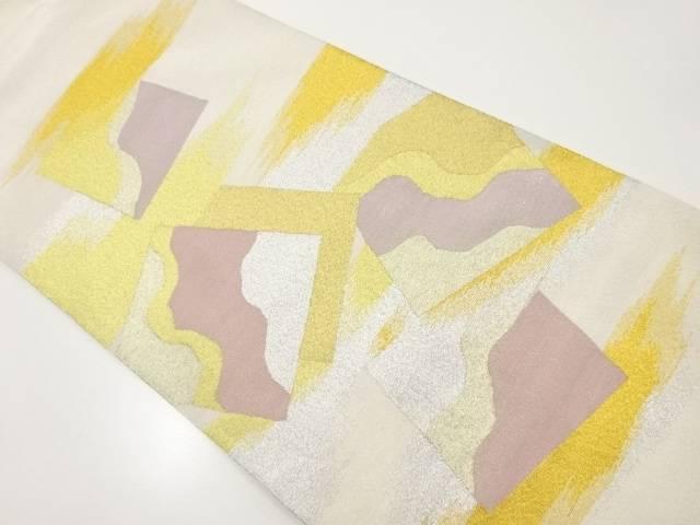 【IDnet】 綴れ霞に色紙散らし模様織り出し袋帯【リサイクル】【中古】【着】