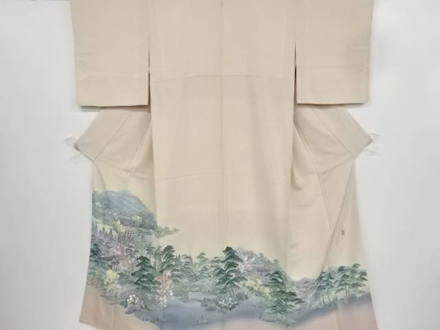 【IDnet】 阿部佳雪作 十日町友禅清水寺風景模様一つ紋色留袖【リサイクル】【中古】【着】