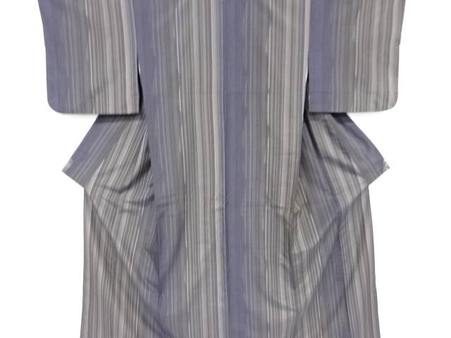 【IDnet】 縞織り出し手織り節紬着物【リサイクル】【中古】【着】