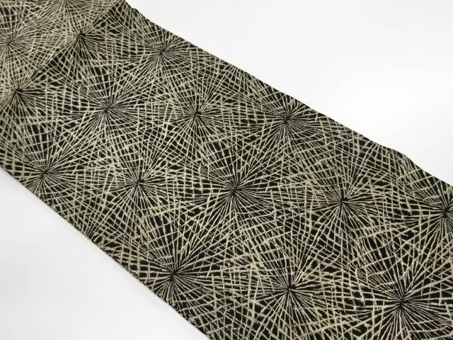 【IDnet】 未使用品 金糸抽象模様織出し開き名古屋帯(額縁仕立て)【リサイクル】【着】