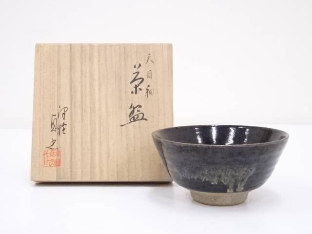 【IDnet】 津軽貞光造 天目釉茶碗 【中古】【道】