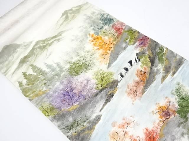 【IDnet】 作家物 手描き山並み風景模様袋帯【リサイクル】【中古】【着】