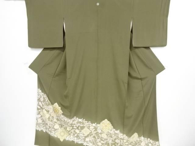 【IDnet】 金彩手描き菱華紋に花鳥模様刺繍一つ紋色留袖【リサイクル】【中古】【着】