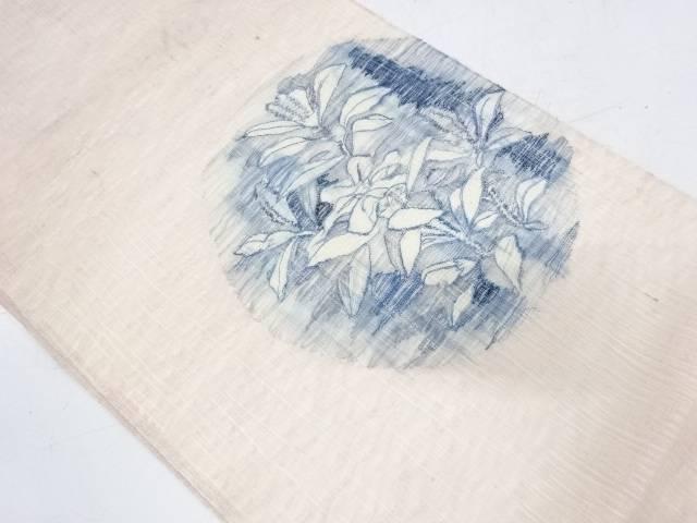 【IDnet】 すくい織丸文に草花模様袋帯【リサイクル】【中古】【着】
