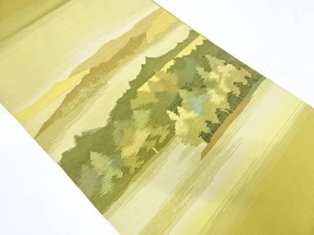 【IDnet】 綴れ遠山に樹木風景模様織出し袋帯【リサイクル】【中古】【着】