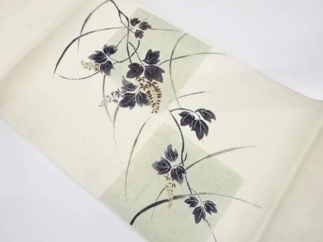 【IDnet】 未使用品 紗紬蔦の葉模様名古屋帯【リサイクル】【着】
