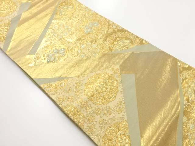 【IDnet】 本金華紋に向かい鴛鴦模様織り出し袋帯【リサイクル】【中古】【着】