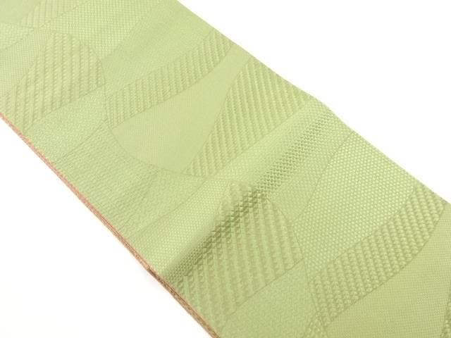 【IDnet】 切りばめ模様織り出しリバーシブル全通袋帯【リサイクル】【中古】【着】