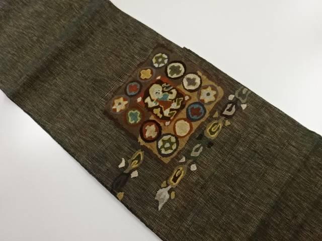 【IDnet】 すくい織り人物更紗模様織り出し袋帯【リサイクル】【中古】【着】