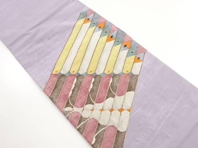 【IDnet】 綴れ幾何学模様織り出し袋帯【リサイクル】【中古】【着】