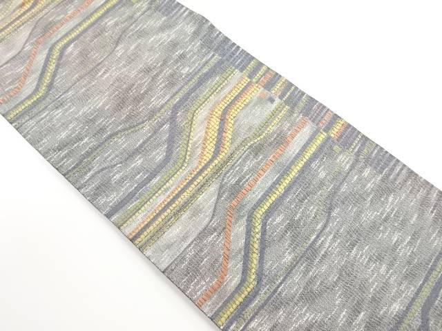 【IDnet】 幾何学模様織り出し袋帯【リサイクル】【中古】【着】