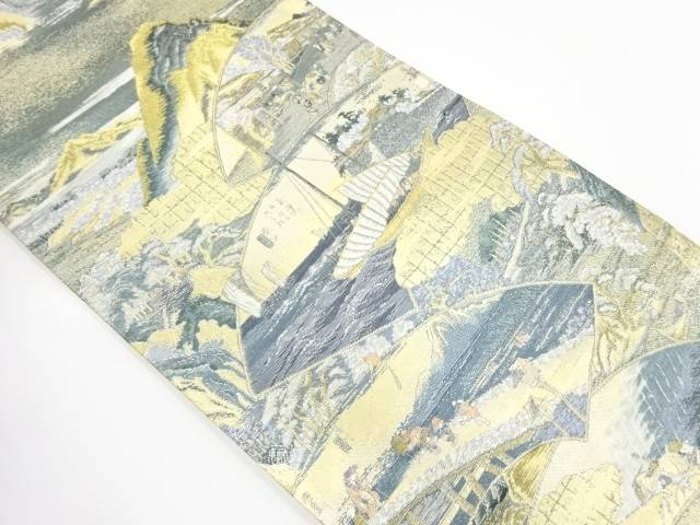 【IDnet】 東海道五十三次模様織出し袋帯【リサイクル】【中古】【着】