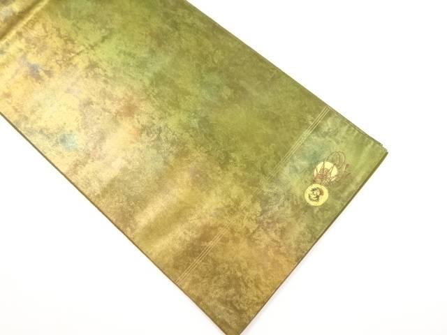 【IDnet】 山野忠雄作 引き箔鼓模様織り出し袋帯【リサイクル】【中古】【着】